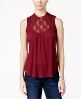 American Rag Sleeveless Lace-Inset Top, Only at Macy's
