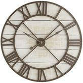 Pier 1 Imports Oversize White Rustic Wall Clock