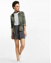 Express gray soft flared mini skirt