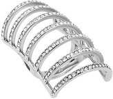 Michael Kors Pave Silver-Tone Cage Ring