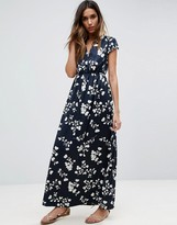 Vila Short Sleeve Floral Maxi Dress