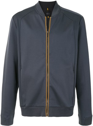HUGO BOSS Zip-Up Cotton Sweatshirt