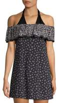 MICHAEL Michael Kors Printed Off-the-Shoulder Coverup