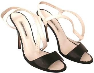 Manolo Blahnik White Patent leather Sandals