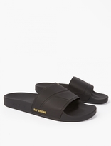 Adidas By Raf Simons Black Bunny Adilette Sliders