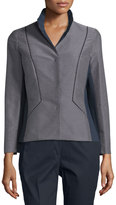 Lafayette 148 New York Laryn Mini-Dot Jacket, Ink/Multi