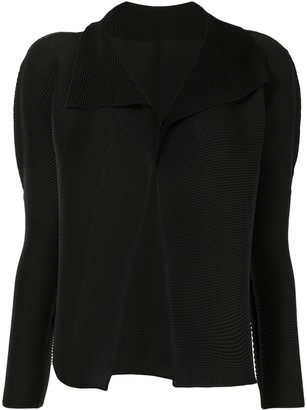 Issey Miyake Micro-Pleated Long-Sleeved Cardigan