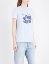 Sandro True Love-print jersey T-shirt