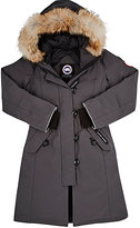 Canada Goose Brittannia Coyote Fur-Trimmed Coat-GREY
