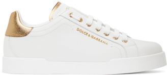 Dolce & Gabbana White Dauphine Sneaker