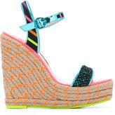 Sophia Webster Lusita Stripes wedge sandals - women - Calf Leather/Leather/Nylon/rubber - 39