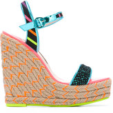 Sophia Webster Lusita Stripes wedge sandals - women - Calf Leather/Leather/Nylon/rubber - 40