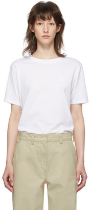 Acne Studios White Ellison Face T-Shirt