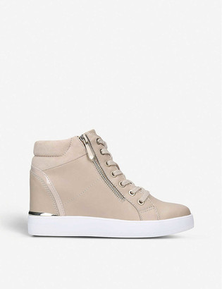 Aldo Ailanna high-top faux-suede trainers