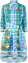 Peter Pilotto floral check print shirt dress - women - Cotton - 8