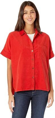 Madewell Mira Shirt in Corduroy (Kilt Red) Women's Clothing
