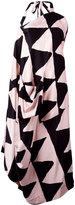 Vivienne Westwood triangular print asymmetric dress - women - Viscose - 44