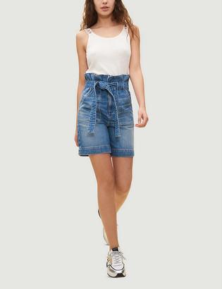 Claudie Pierlot Elenore high-rise denim shorts