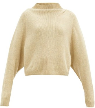 Petar Petrov Karoll High-neck Ribbed-cashmere Sweater - Beige