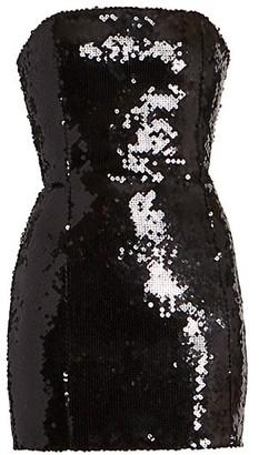 Balmain Strapless Sequin Bustier Dress
