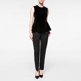 Paul Smith Women's Black Velvet Peplum Top