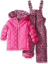 Pink Platinum Platinum Girls' Infant Quilted Snowsuit with Cheetah Print