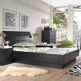Tvilum Scottsdale Platform Bed in Black Woodgrain - Queen