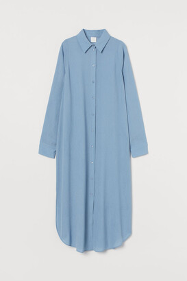 H&M Calf-length Shirt Dress - Blue