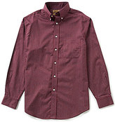 Roundtree & Yorke Gold Label Checked Non-Iron Dobby Perfect Performance Sportshirt