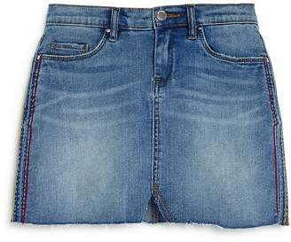 Blank NYC BLANKNYC Girls' Embroidered Denim Mini Skirt, Big Kid - 100% Exclusive