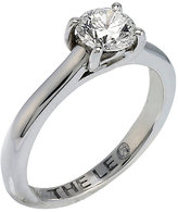 Leo Diamond 18ct white gold 0.88ct I-SI2 solitaire ring