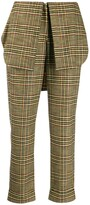 Hellessy checked foldover-waistband trousers