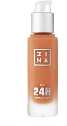 3INA The 24H Foundation 30Ml 663 Dark Brown Beige