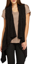 Bobeau Textured Waterfall Sweater Vest, Black