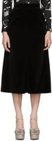 Saint Laurent Black Velvet Wide-Leg Culottes