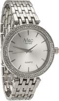 MC M&c Ferretti Women's | Rhinestone Bezel -Tone Big Dial Watch | FT14103