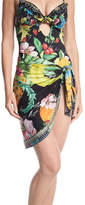 Camilla Tropical-Print Short Sarong Swim Coverup, One Size