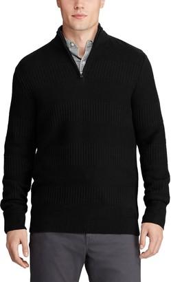 Chaps Men's Classic-Fit Textured Quarter-Zip Sweater