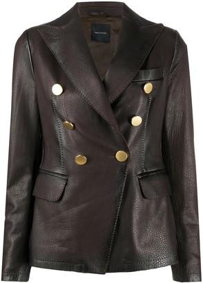 Tagliatore Lizzie leather jacket