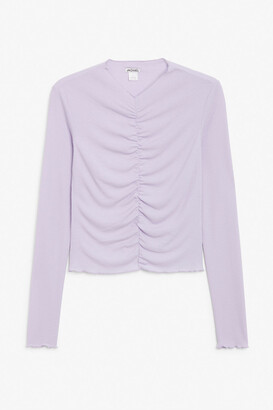 Monki Ruched long-sleeve top