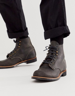 Red Wing Shoes blacksmith lace up bootsin charcoal leather