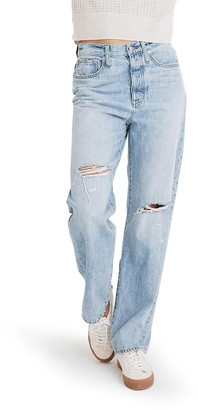 Madewell Ripped Straight Leg Dad Jeans