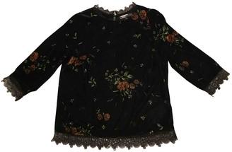La Petite Francaise Black Velvet Top for Women