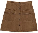 soeur Vintage Velvet Trapeze Skirt