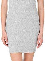 American Apparel Women's 2x1 Short Sleeve Henley Rib Dress
