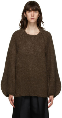 LVIR Brown Mohair Bolero Sweater