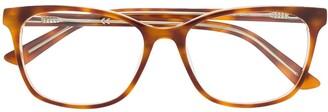 Calvin Klein Tortoiseshell-Effect Squared Glasses
