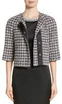St. John Metallic Plaid Tweed Jacket