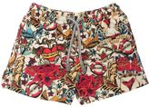MC2 Saint Barth Pirates Print Nylon Swim Shorts