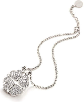 Folli Follie Heart4heart magnetic silver-plated crystal necklace